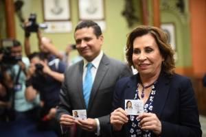 Sandra Torres y Carlos Raúl Morales