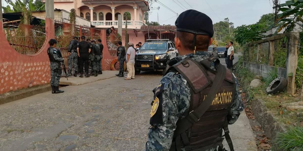 Fuerzas de seguridad realizan operativo antinarcótico en San Marcos