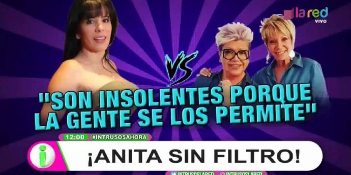 """Anita Alvarado arremete contra Maldonado y Argandoña: """"Se nos muere la Paty y te aseguro que la mitad del país no la va a llorar"""""""