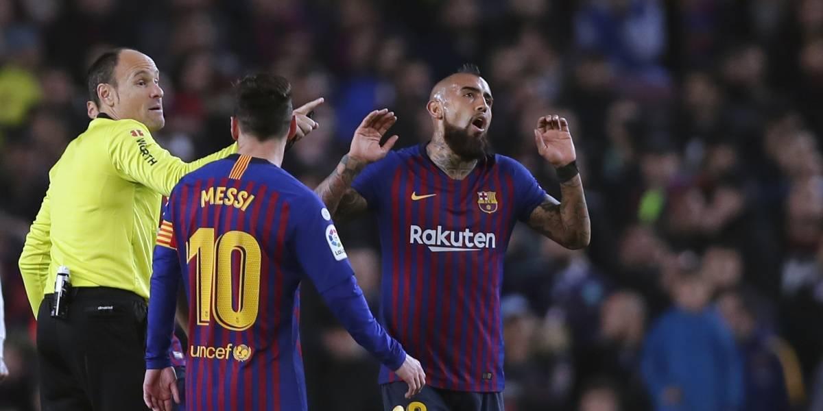 """La impredecible crítica española aprobó al """"impetuoso"""" y """"vigoroso"""" Vidal en el clásico ante Real Madrid"""