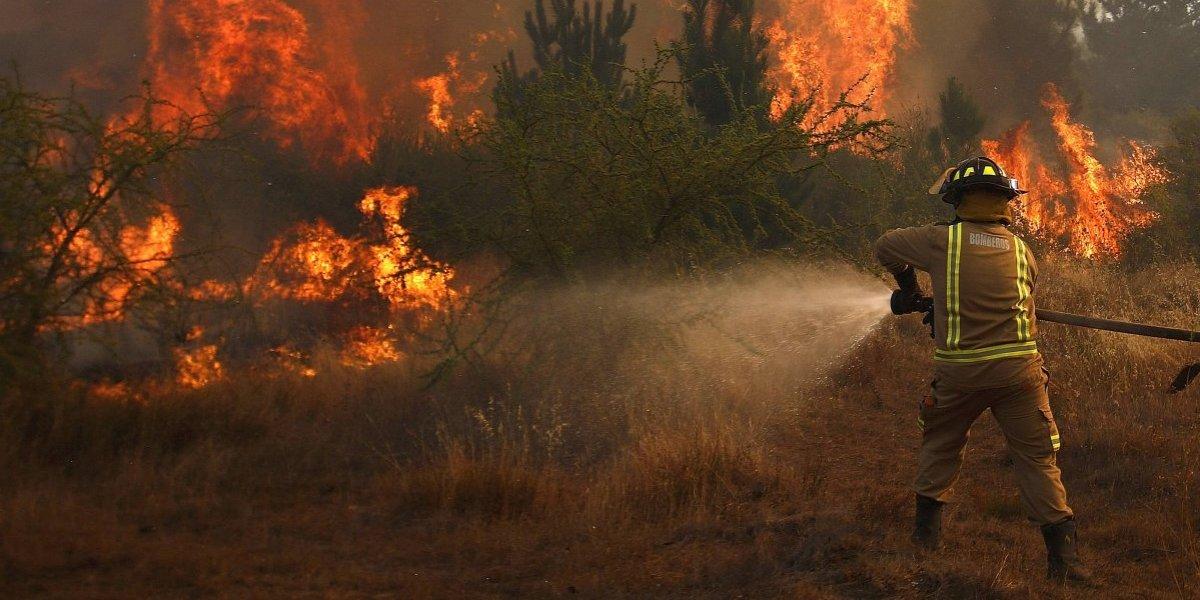 Sur bajo fuego: nueve alertas rojas y 113 focos de incendios se mantienen activos entre Ñuble y Aysén