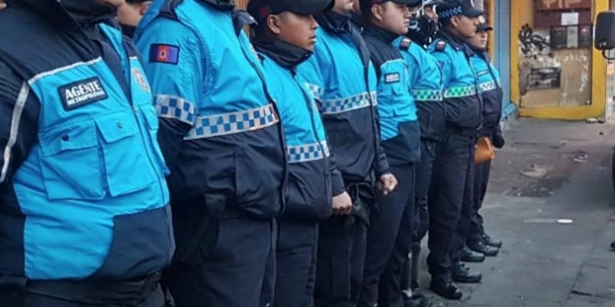 Cuatro Agentes Metropolitanos de Control y un funcionario de la AMC, agredidos en alrededores del Mercado Las Cuadras