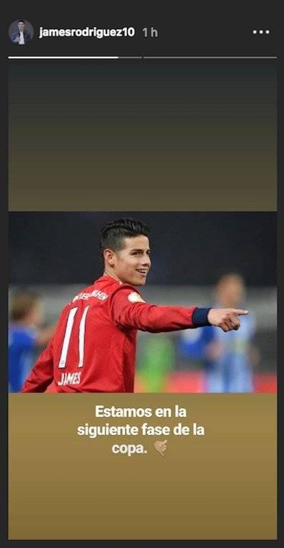 1. James Rodríguez después de Hertha VS Bayern