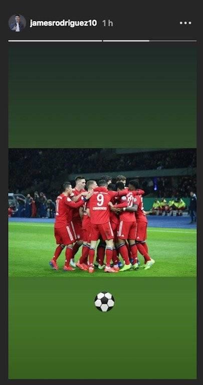 2. James Rodríguez después de Hertha VS Bayern
