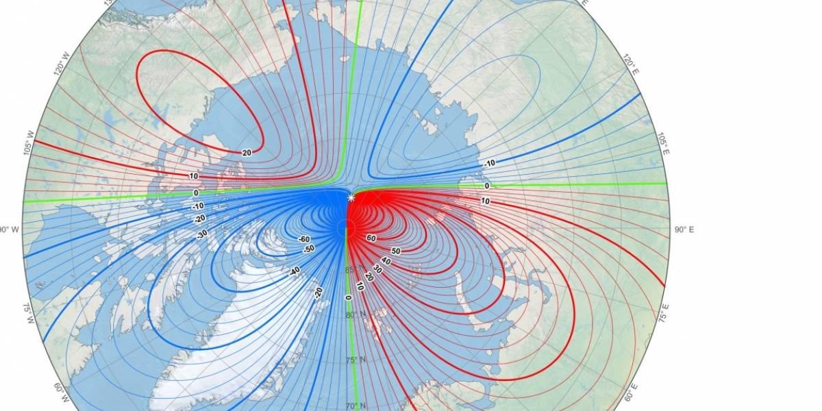 Un movimiento acelerado del polo norte magnético de la Tierra obliga a que científicos tomen acciones