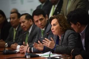 partido UNE se pronuncia por antejuicio contra Sandra Torres