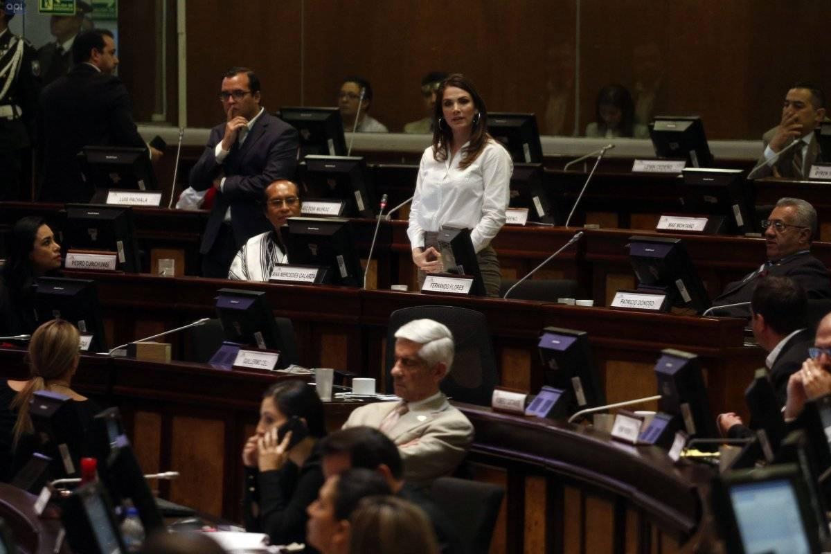 Pleno de la Asamblea Nacional, conocer y resolver sobre el informe de investigación del caso denunciado por el Asambleísta Ronny Aleaga en contra de Ana Galarza. API