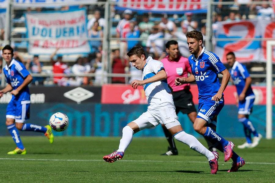 Claudio Sepúlveda jugó entre 2012 y mediados de 2015 en el primer equipo de la UC / Foto: Agencia UNO