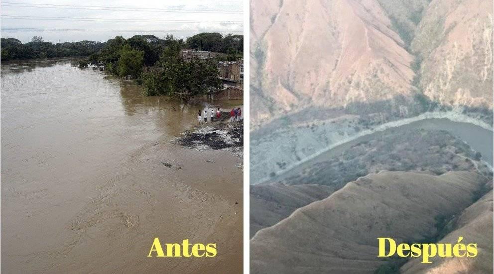 Antes y Después rio Cauca