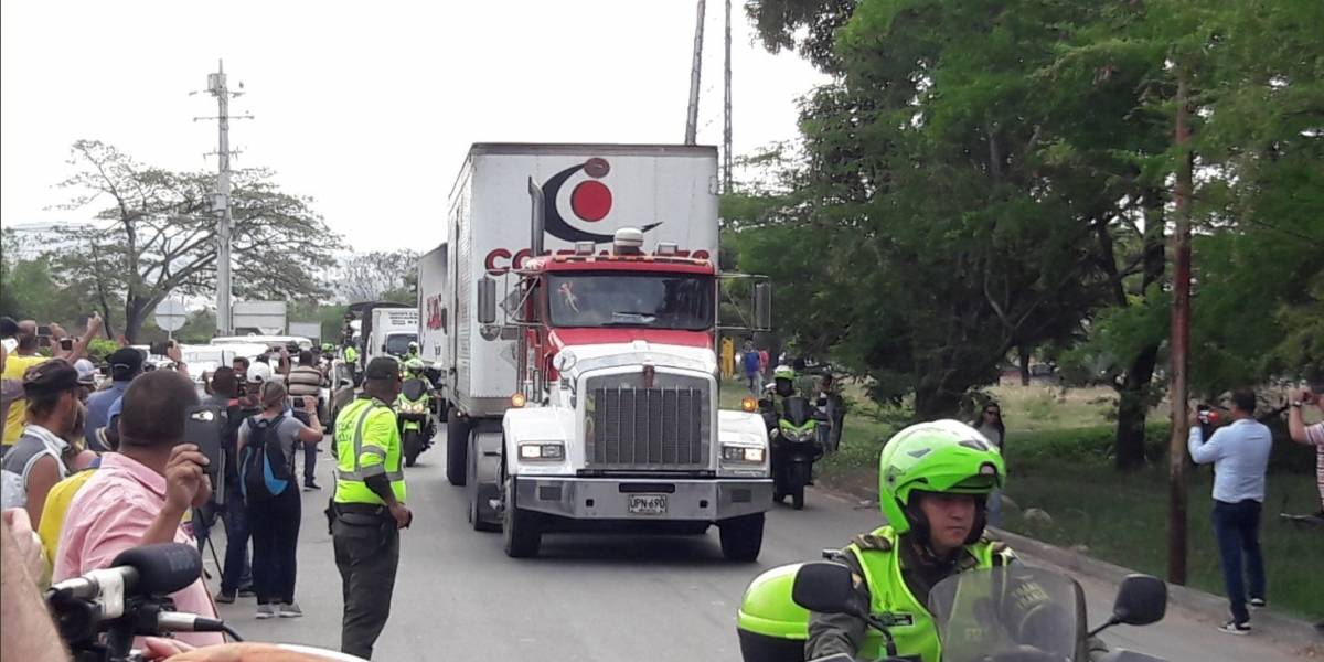 Llega a Cúcuta la primera parte de ayuda humanitaria para Venezuela