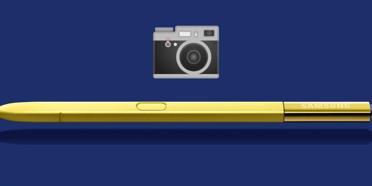 Samsung patentó un diseño de lo que sería un Galaxy Note con una cámara incluida en el Stylus
