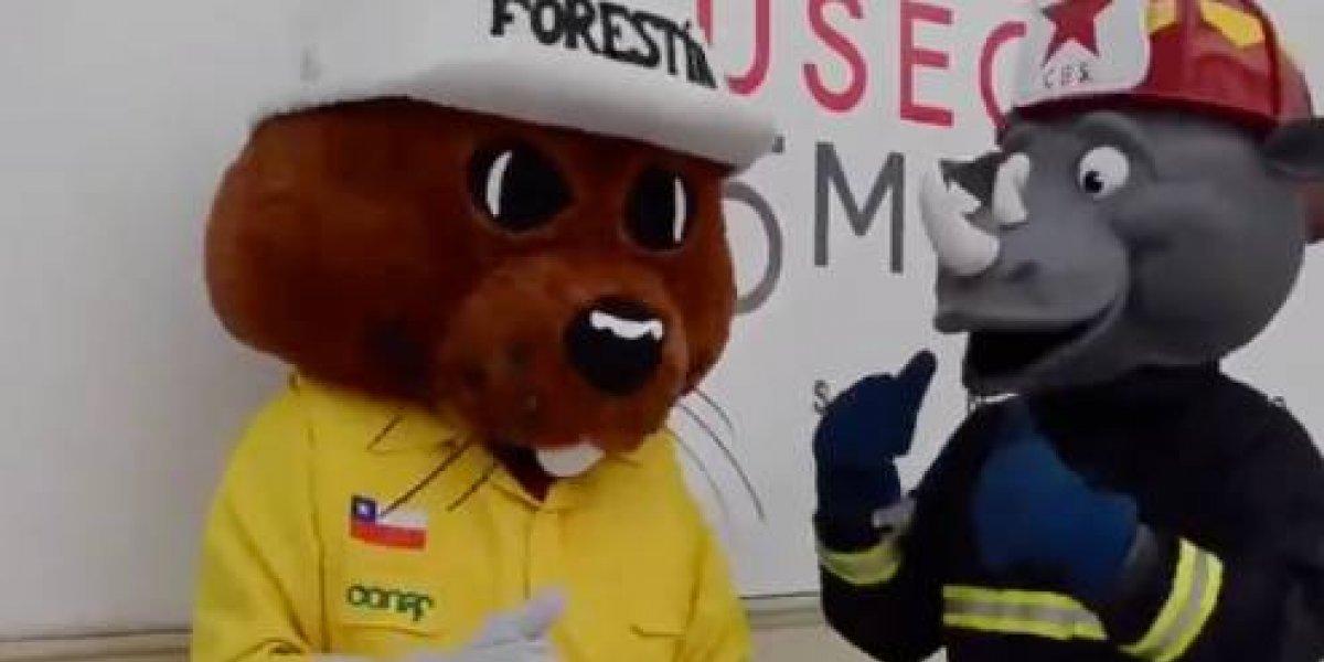 Una nueva sociedad contra los incendios forestales: Forestín y Claxon enseñarán de forma entretenida a niños y jóvenes cómo prevenirlos