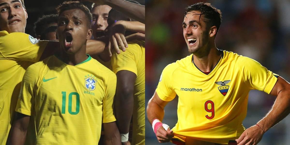 ¡Sin margen de error! Brasil se juega la vida contra Ecuador en el Sudamericano Sub-20