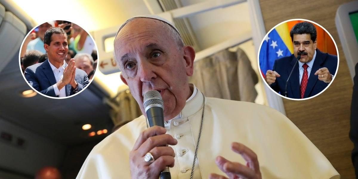 Guaidó y Maduro coinciden en algo: ambos piden apoyo al papa Francisco