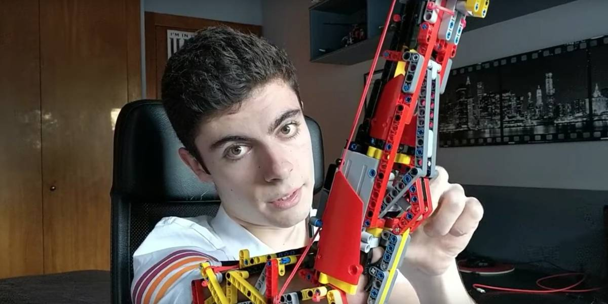 Conheça 'Hand Solo', o jovem espanhol que criou um braço robótico com blocos de Lego