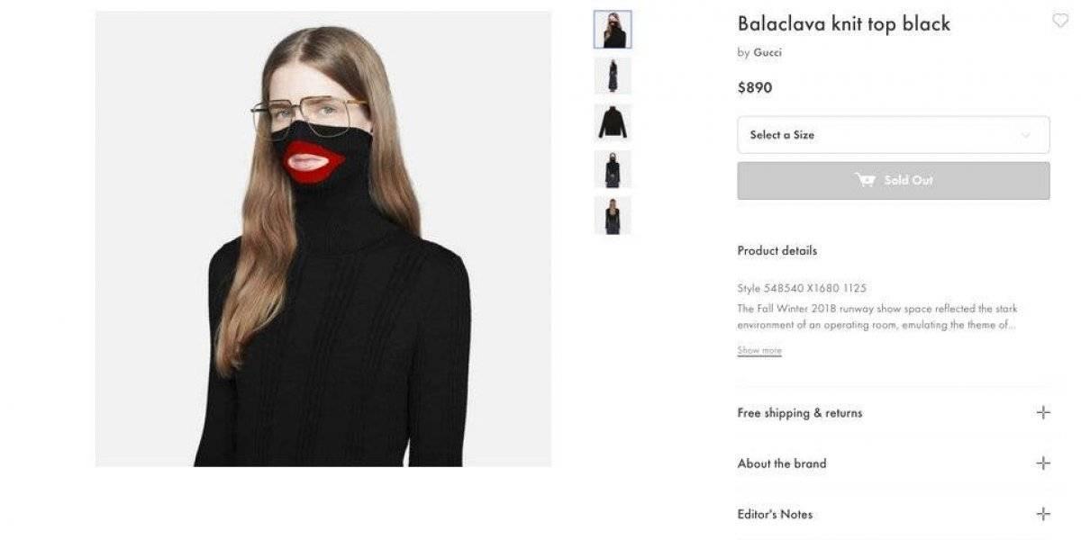 Acusan a Gucci de racista y por ello debe retirar un suéter de la venta