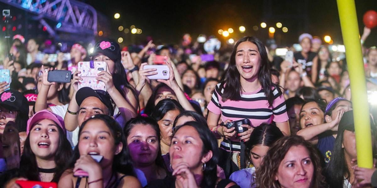 CNCO desató la euforia de sus fanáticas en la Fiesta de la Independencia de Talca