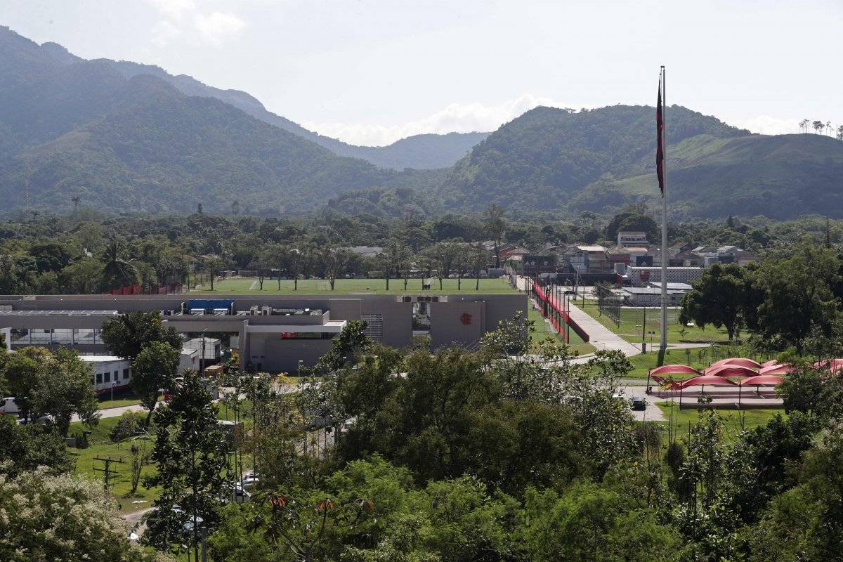Complejo de entrenamiento del club de fútbol Flamengo, donde un incendio temprano en la mañana dejó un número de personas muertas