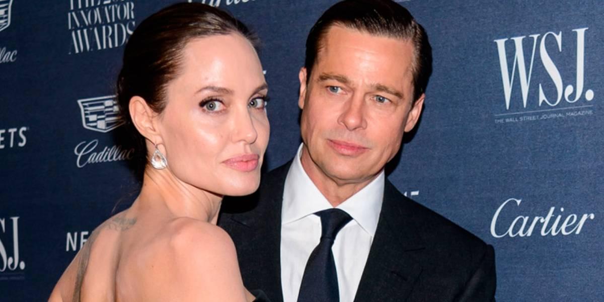 Brad Pitt y Angelina Jolie fueron captados en una nueva y fuerte discusión por sus hijos
