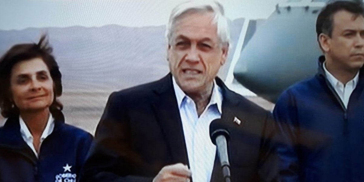 "Presidente Piñera declara ""zona de catástrofe"" a El Loa"