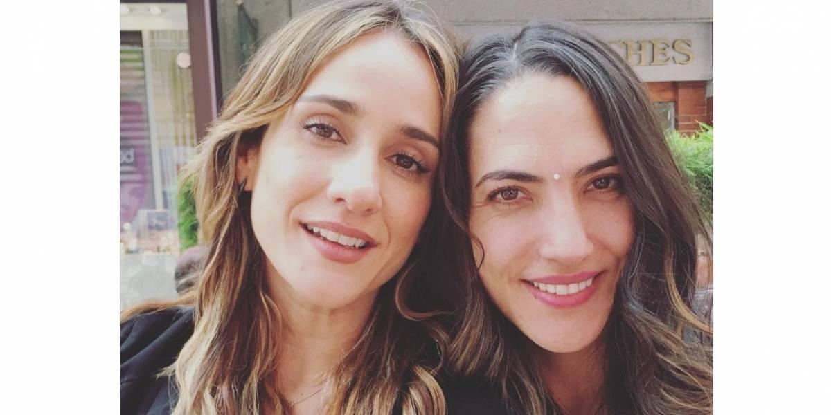 Tierna foto de Chichila Navia y Carolina Cuervo cuando pequeñas enternece las redes