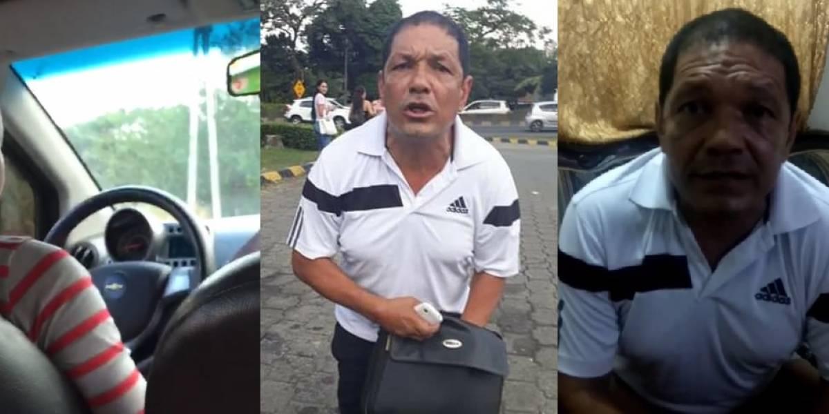 Video: Hombre da la cara y dice por qué insultó a la conductora de un 'pirata'