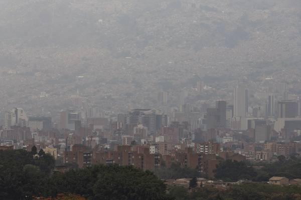 Contaminación del aire Medellín febrero 2019