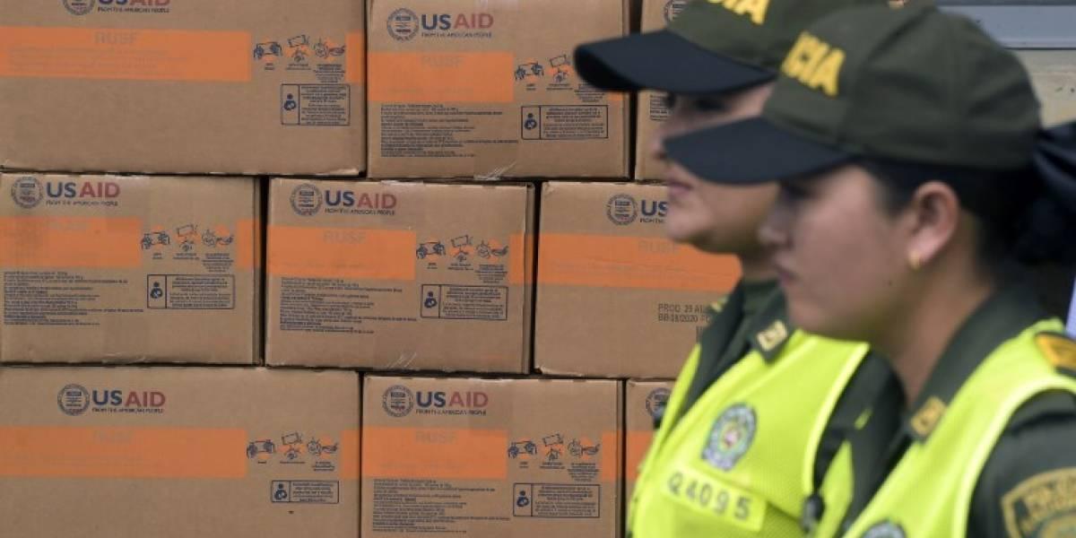 Estados Unidos descarta uso de la fuerza para ingresar ayuda a Venezuela