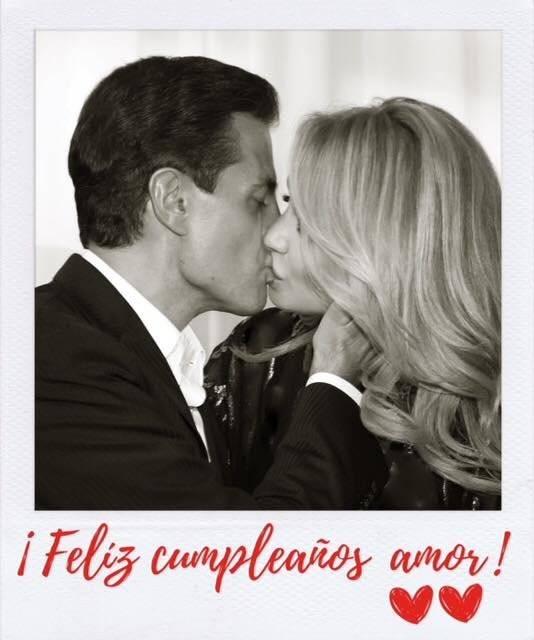 Peña Nieto y su esposa