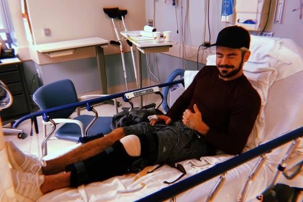 Zac Efron fue operado de emergencia.