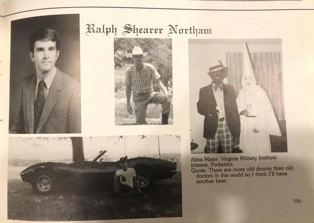 Gobernador de Virginia, Ralph Northam - racismo