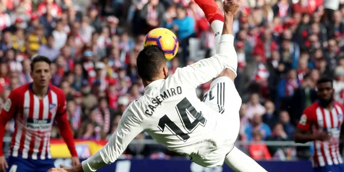Com golaço de Casemiro, Real vence clássico de Madri e supera Atlético na tabela