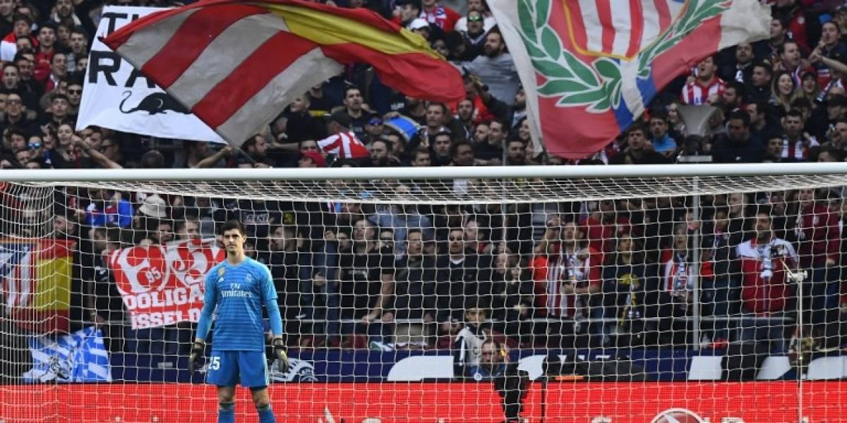 Aficionados del Atlético no se olvidan de Courtois y así lo demuestran