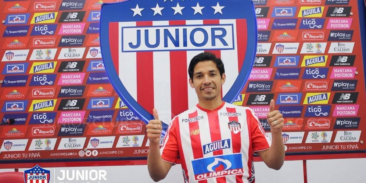 """Matías Fernández fue presentado en Barranquilla: """"En Junior demostraron que tenían ganas de que estuviera acá"""""""