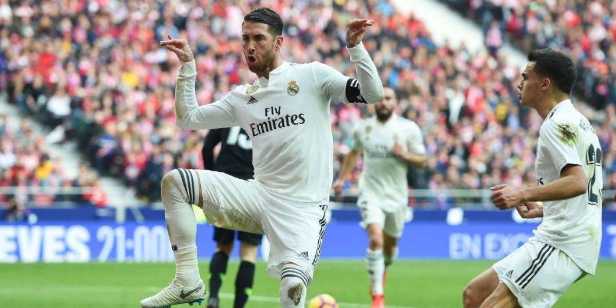 El festejo de Sergio Ramos para burlarse de Griezmann en el derbi madrileño