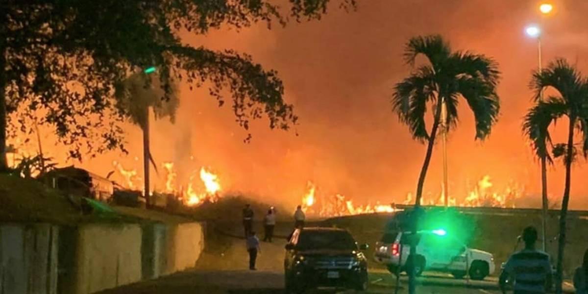 Reportan fuego cerca de edificio del RUM