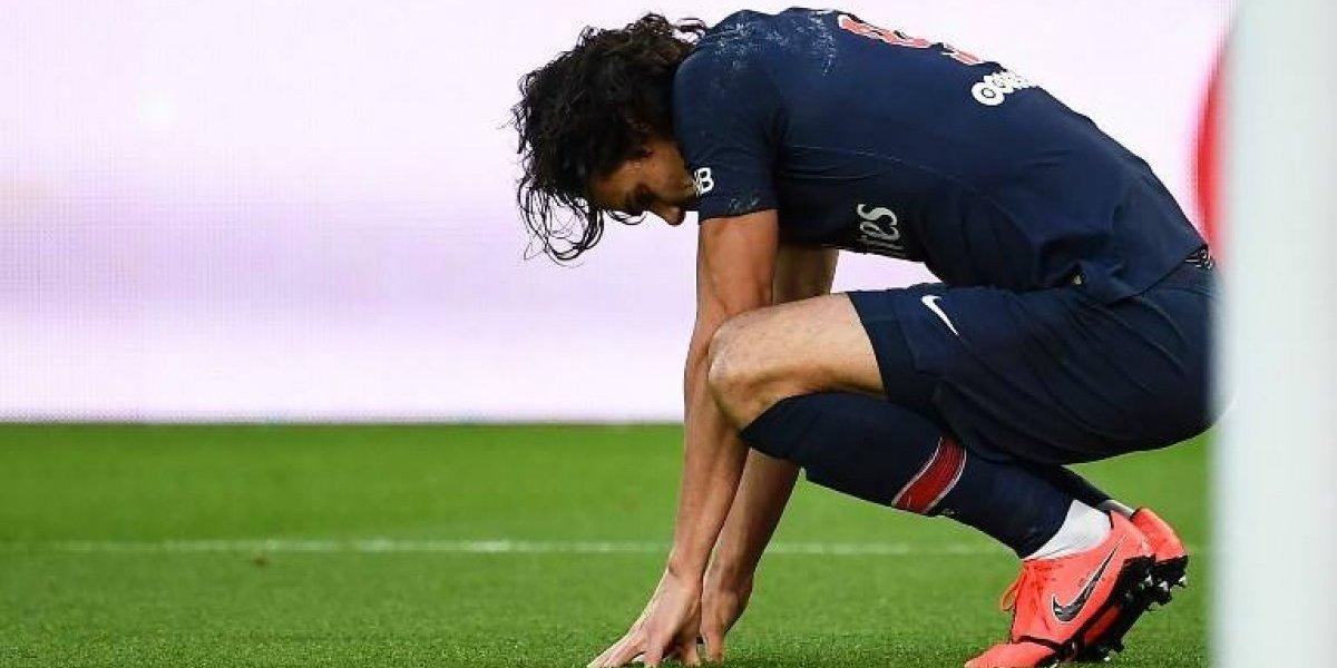 La lesión de Cavani deja sin fuerza al ataque del PSG para el juego ante el United