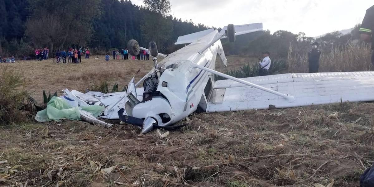 Avioneta se desploma en las faldas del Nevado de Toluca