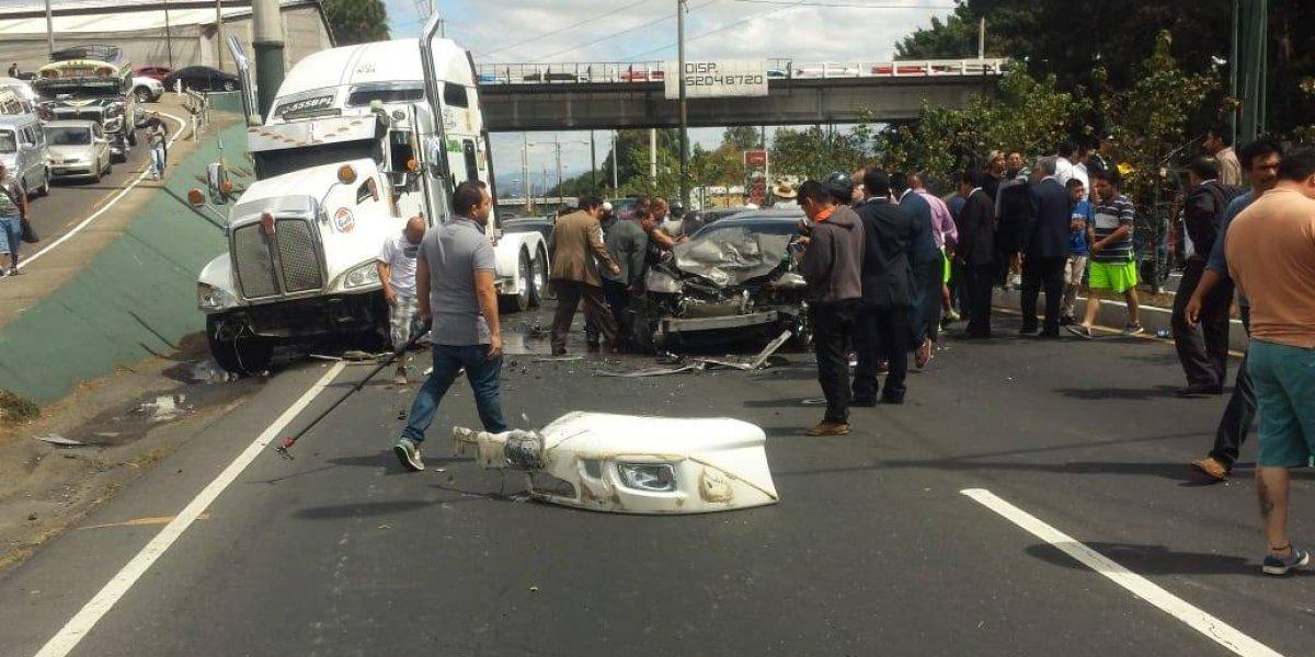 VIDEO. Un choque en la ruta Interamericana deja varios heridos