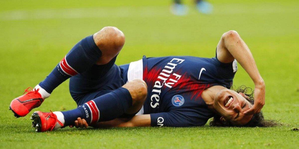 Golpe duro para el PSG que no tendrá al lesionado Cavani ante el United de Alexis