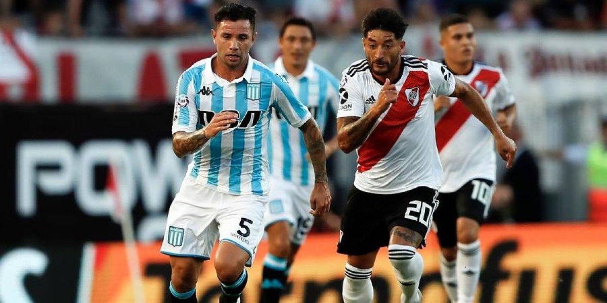 Racing de Díaz, Mena y Arias se achicó ante un gigante River que lo pasó por encima en la Superliga