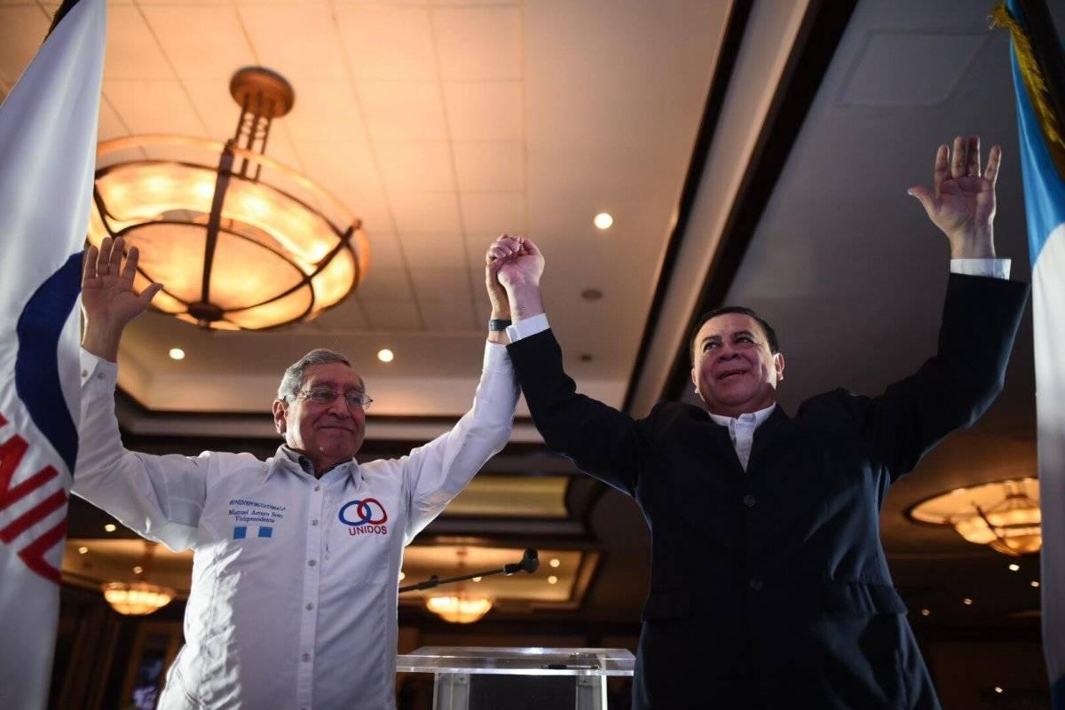 Luis Velásquez y Manuel Arturo Soto, partido Unidos