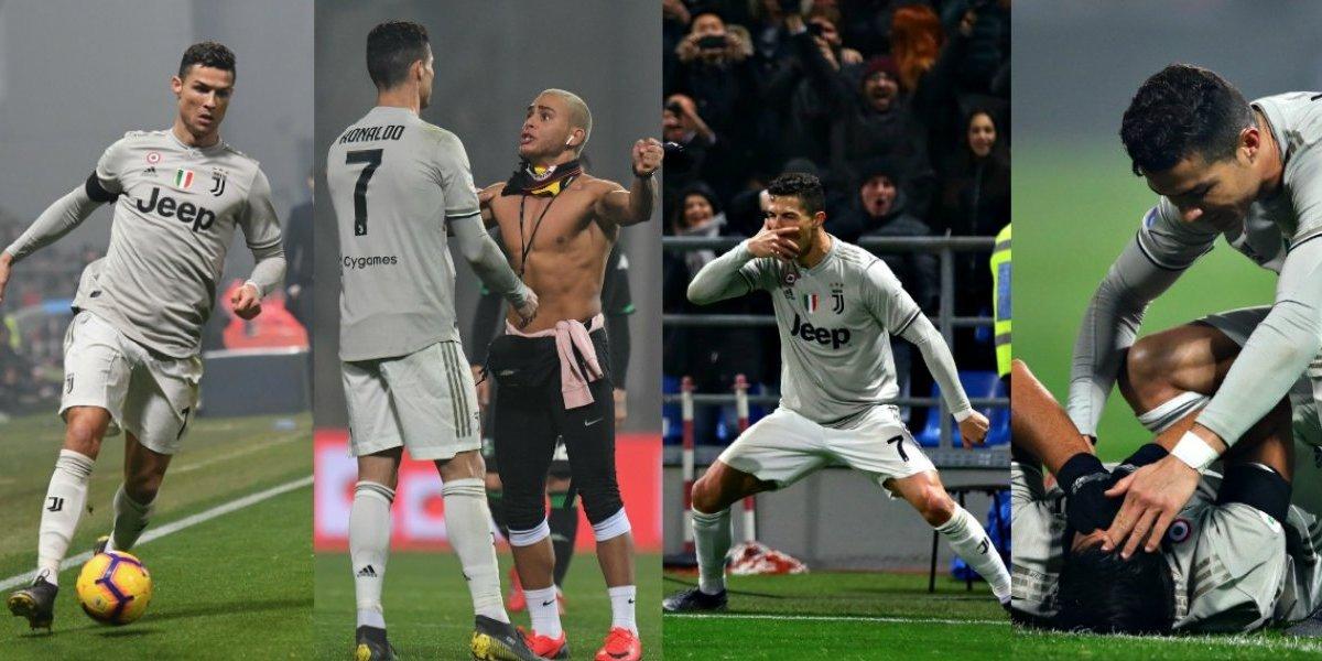 VIDEO: Cristiano Ronaldo vivió un partido de locura en la victoria de la Juve