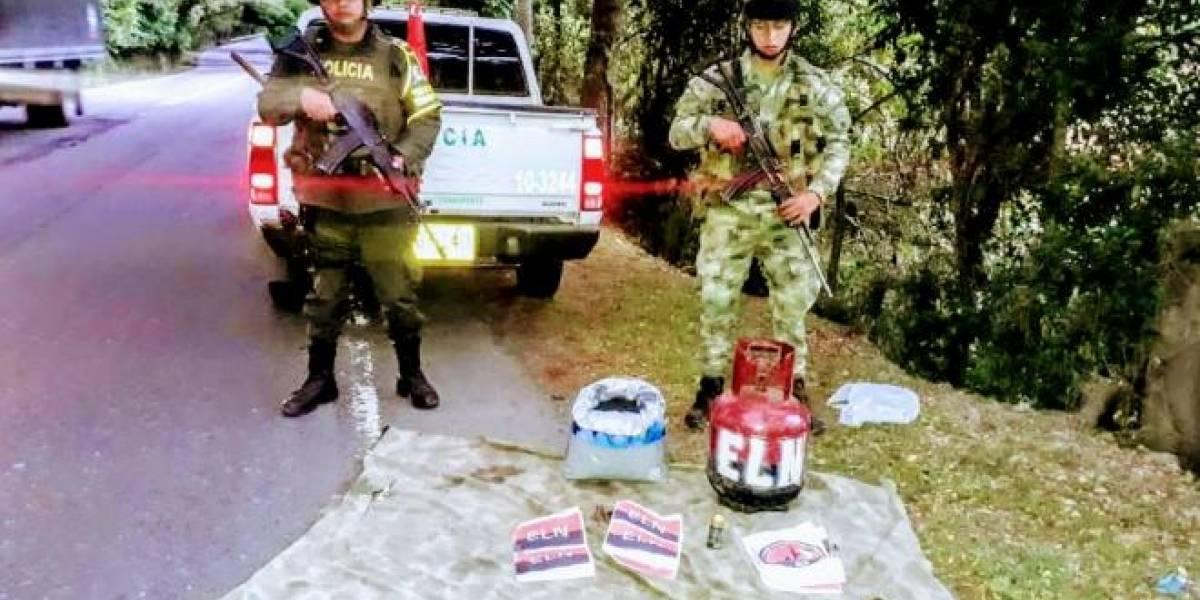 Policía encontró material explosivo del Eln con el que realizarían atentado en Cauca