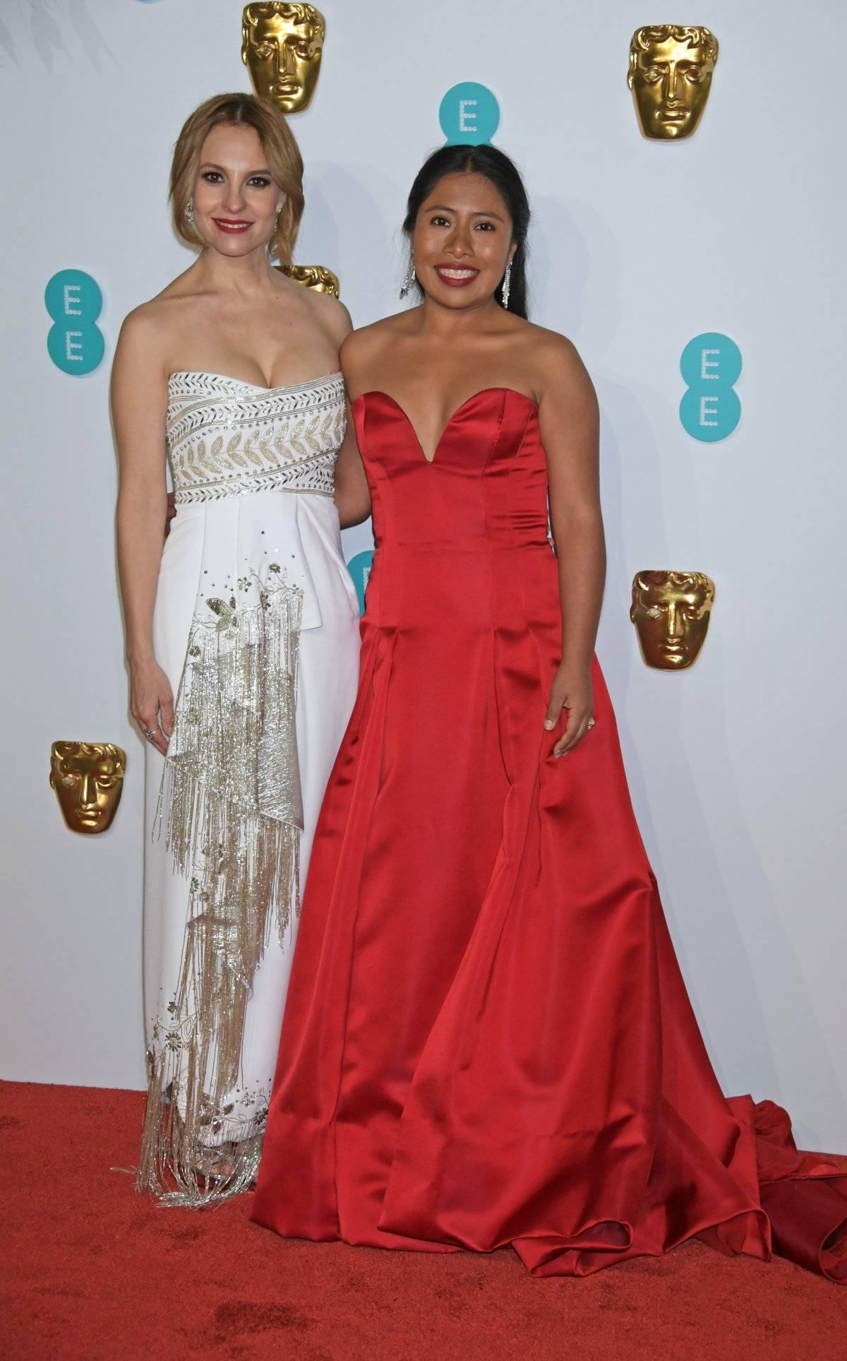 La actrices Marina de Tavira y Yalitza aparicio en la alfombra roja de los BAFTA 2019 Getty Images