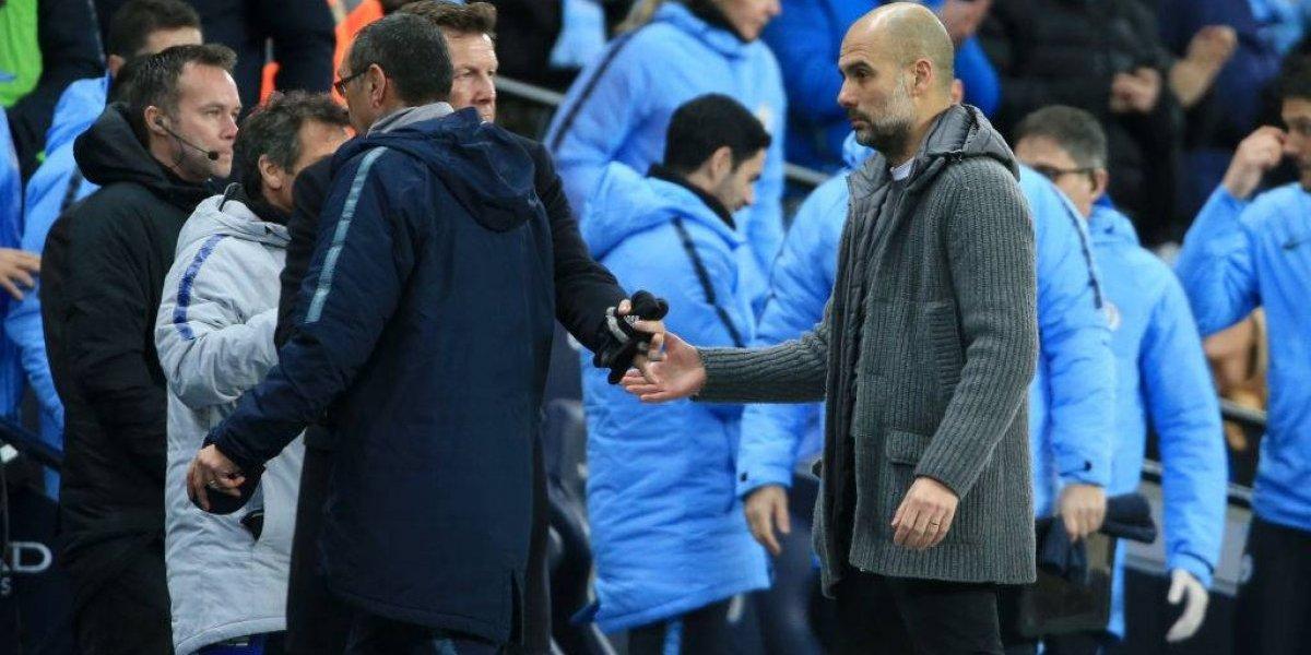Sarri no se despidió de Guardiola tras la humillación del City al Chelsea y provocó un escándalo