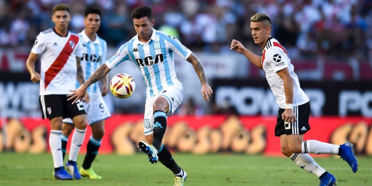 Así vivimos la derrota del Racing de los chilenos ante River por la Superliga argentina