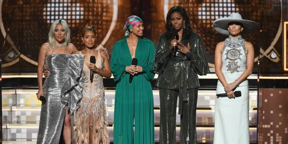 Lady Gaga, Jennifer López, Jada Pinkett, Michelle Obama y su mensaje en los Grammy