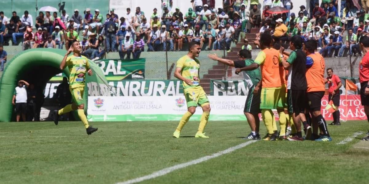 Chiantla rescata un empate contra Antigua en El Pensativo