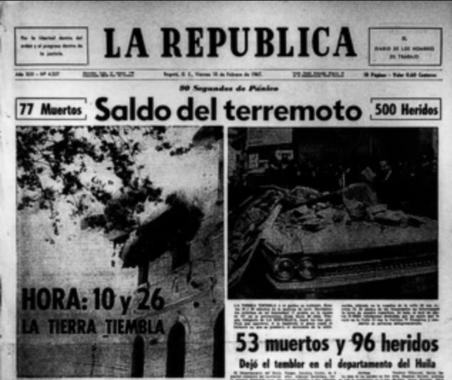 Así ocurrió el terremoto en 1967, uno de los más fuertes en el país